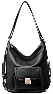 Heshe Leather Handbags New Fashion Backpack Casual Daypack Shoulder Bags for Women and Lady