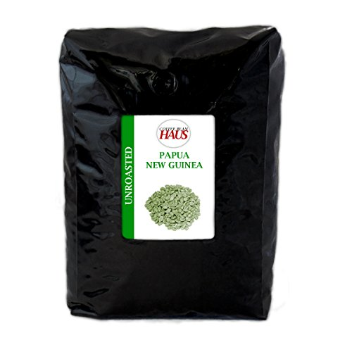 Papua New Guinea Unroasted Green Coffee Beans 80-Ounce (5 lb) by Coffee Bean Haus