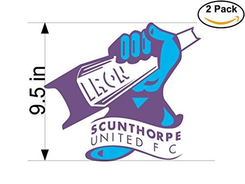 fan products of Scunthorpe United FC United Kingdom Soccer Football Club FC 2 Stickers Car Bumper Window Sticker Decal Huge 9.5 inches
