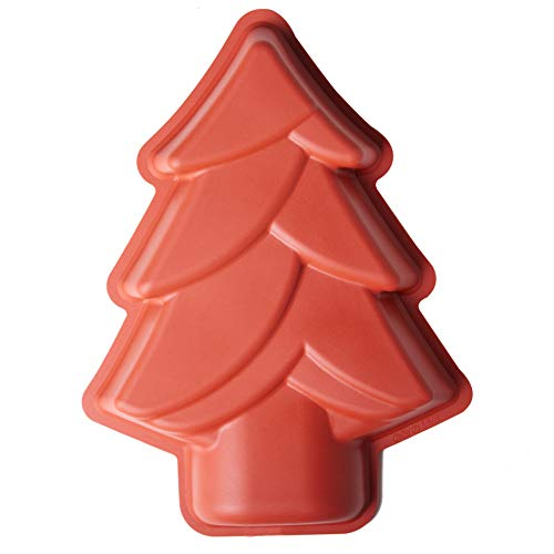 Silicone Christmas Tree Cake Pan, Baking Mold Non-stick Silicone Baking Pan Bread Bundt Pan Homemade Cake Decorating Tools
