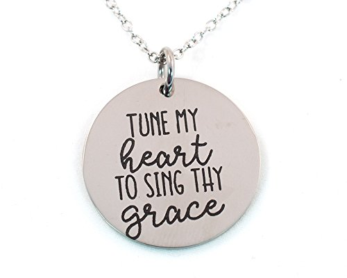 Tune My Heart to Sing Thy Grace Necklace – Stainless ()