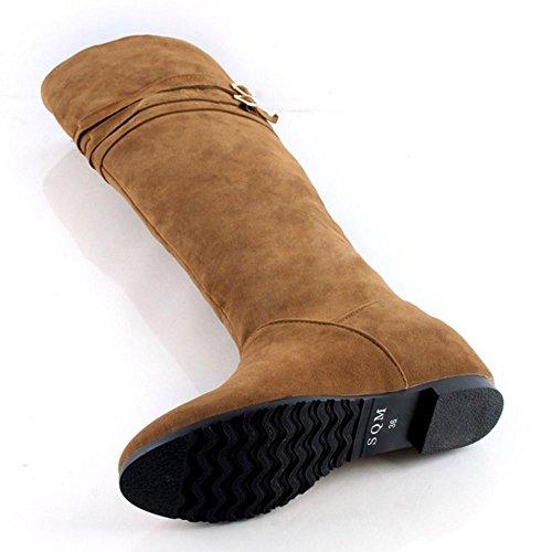 Women Yellow Fashion On 1 KemeKiss Pull Boots qxgTwq8d