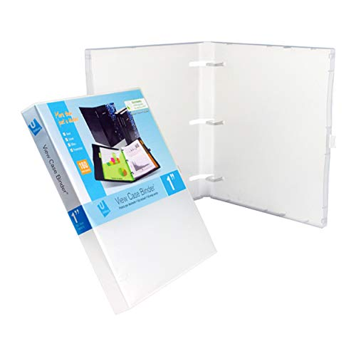 (3 Ring Case View Binder with Overlay - 1.0 Inches (Clear)-3 Pack)
