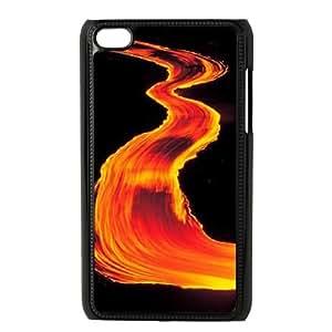 Clzpg Unique Design Ipod Touch 4 Case - Orange diy shell phone case