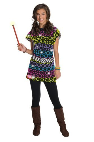 Rubies-Wizards-of-Waverly-Place-Alex-Polka-Dot-Costume-Lg-8-10-Yrs-Multicolored
