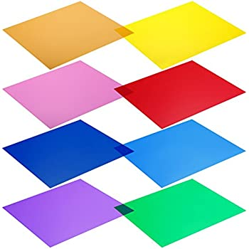 amazon com neewer 12 x 12 inches pack of 8 transparent color