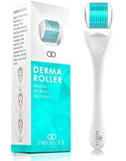 Project E Beauty Derma Roller | 540 Titanium Micro Needle Facial Roller Microneedle Beauty Cosmetic Needling Instrument Skin Care Face .25mm 0.25mm Dermaroller Kit Microneedling Maximise Skincare Home Use Men Women