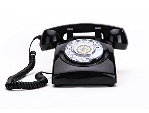 Rotary Dial Telephones Sangyn 1960'S Classic Old Style Retro Landline Desk Telephone,Black Classic Design Desk Phone