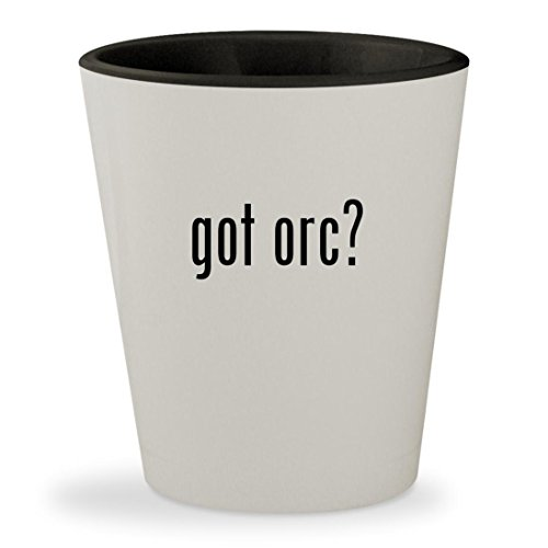 White Innova Star (got orc? - White Outer & Black Inner Ceramic 1.5oz Shot Glass)