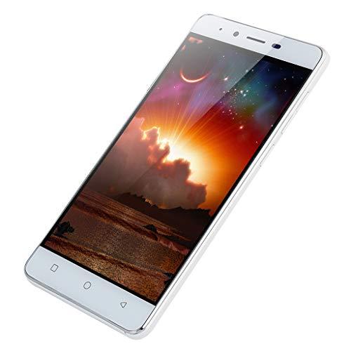 (Mbtaua-Phone 5.0'' Big Battery Ultra-Thin SmartphoneAndroid 5.1 Quad-Core 512MB+4GB GSM 3G WiFi Dual Smartphone White )
