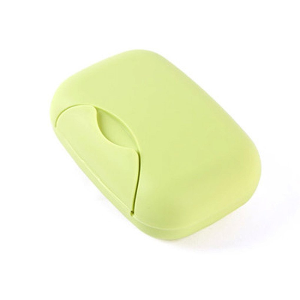 QHGstore Durable Travel Soap Dish Box Holder Container Shower Bathroom Green