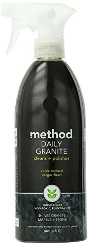 Method Daily Granite & Marble Cleaner Spray, Apple Orchard, 28 Ounce, (Pack of 3)