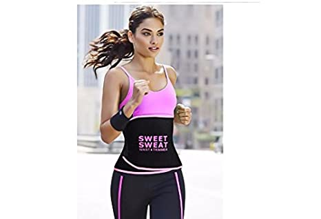 ef929be1c7 Buy ZURU BUNCH Sweet Sweat Premium Waist Trimmer for Men   Women   -Available in Pink Color Online at Low Prices in India - Amazon.in
