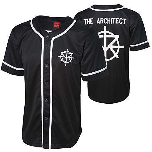 WWE Authentic Wear Seth Rollins The Architect Baseball Jersey Black Medium