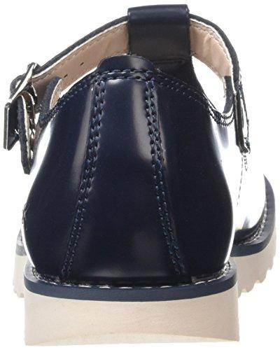 Kickers Mujer Azul Oscuro T-bar Suma Zapatos