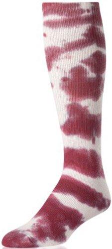 Tie Dye Sock Maroon LG B00N7UA2K8