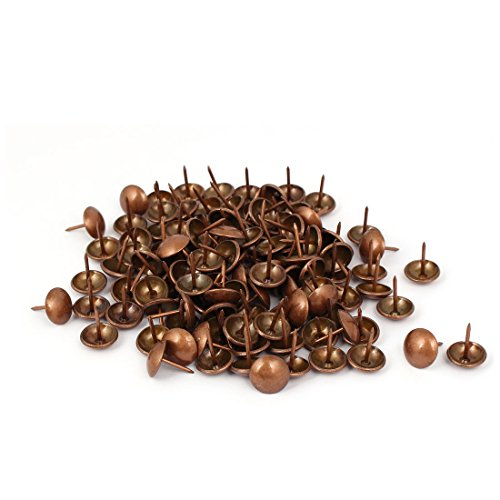 uxcell 14mm Dia Metal Upholstery Tack Push Nail Copper Tone 120pcs for Furniture Decor by uxcell