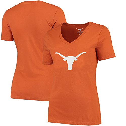 (Profile Varsity University of Texas Women's Plus Size Longhorns Logo V-Neck T-Shirt (Plus 3X))
