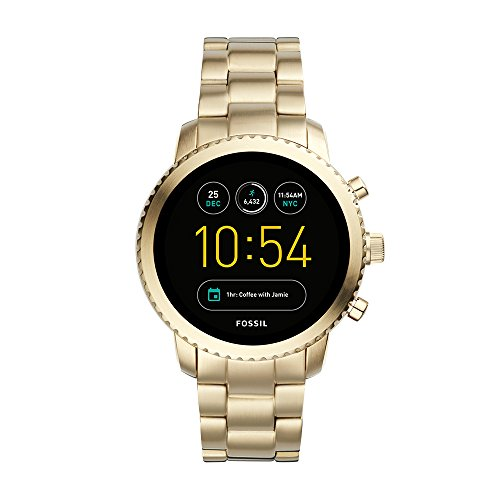 Fossil Men's Gen 3 Explorist Stainless Steel Touchscreen Smartwatch, Color: Gold (Model: FTW4010)