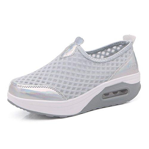 Walking Nordic Xmeden Plateado Zapatillas Para Mujer De qEtZFwrt