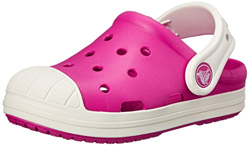 Crocs Kids' Bump It Clog, Candy Pink/Oyster, 8 M US Toddler