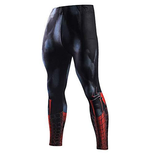 Spiderman Iron Man Batman Leggings Sweatpants 3D Fitness Bodybuilding Elastic Trousers -