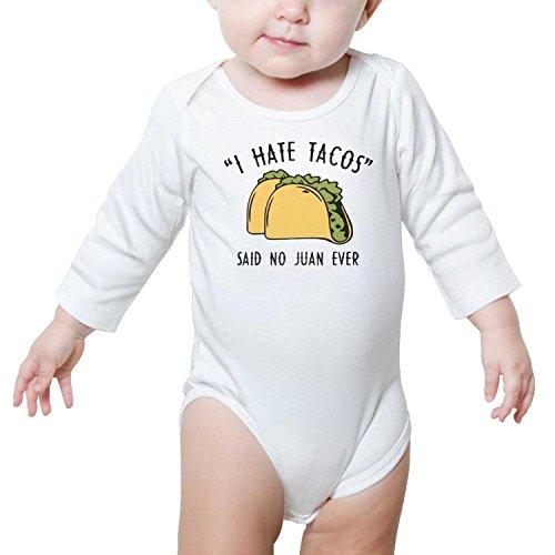 SHUOCDAH I Hate Tacos Said No Juan Ever Baby Boys Girls Fashion Baby Outfits