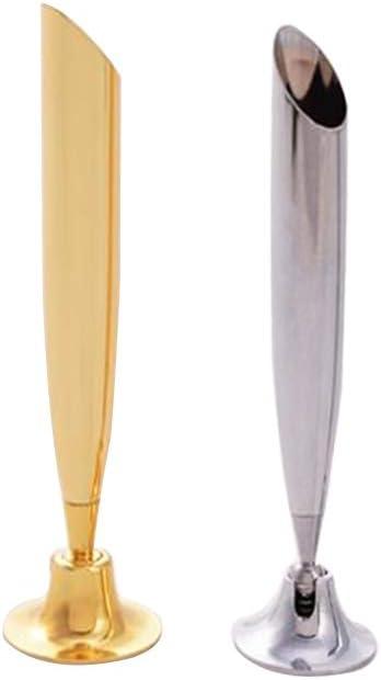 MEABEN 2 Pieces Desk Swivel Pen Holder Pen Funnel Desktop Pencil Stand Holder Organizer Ballpoint Pen Stand for Bank/Retailer/Office Lobbies/Hotel, Gold and Silver