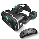 FLASNAKE 3D VR Headset with Remote Controller Virtual...