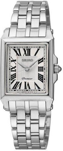 Seiko Premier White Dial Stainless Steel Ladies Watch SXGP11 by Seiko