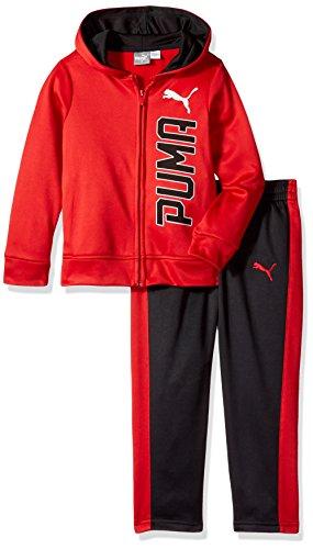 - PUMA Little Boys' Tech Fleece Hoodie Set, Fierce Red, 5