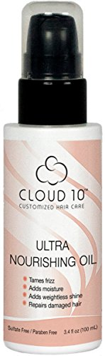 Cloud 10 Ultra Nourishing Hair Oil - Cruelty Free, Revitalizes Thirsty Hair, Fights Frizz, Adds Moisture & Weightless Shine ()