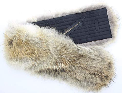 Coach 83113 Real Natural Coyote Fur Pass Through Neck Scarf Collar Accessory (Coach Scarf Brown)