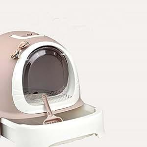 QNMM Cajón Tipo Caja De Arena Completamente Cerrado Desodorisante Automático Gato WC con Tapa Caja De Arena Es Cat Ideal Baño Ambiente: Amazon.es: Productos ...