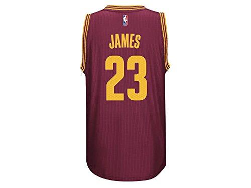 ADIDAS Men's NBA Cleveland Cavaliers James #23 Burgundy Jersey (Medium)