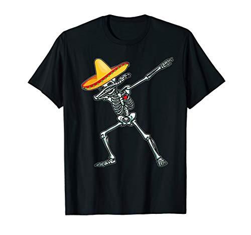 Dabbing Skeleton Cinco De Mayo TShirt Dab Hip Hop Skull Gift ()