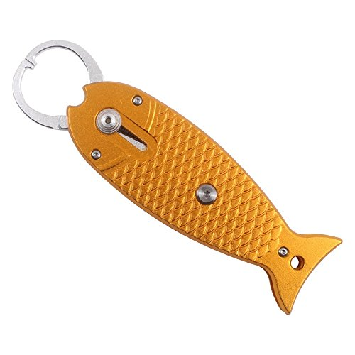 Amazon.com : HiUmi Portable Fish Gripper Stainless Steel Handle Grab Carp Fish Shape Grip Alicate De Pesca Fishing Tackle Tools (Red) : Sports & Outdoors