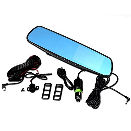 Creazy® Full HD 1080P 4.3 Video Recorder Dash Cam Rearview Mirror Car Camera DVR