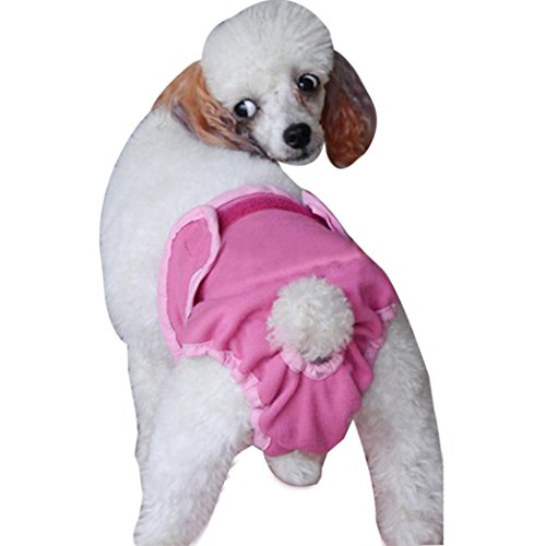 [DEESEE(TM) Washable Diapers Sanitary Male Dog Protector Pant Large Male Dog Pants (XS, Pink)] (Bad Habit Costumes)