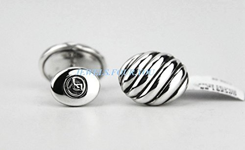 david-yurman-oval-sculptured-cable-cufflinks-sterling-silver-410-new-box