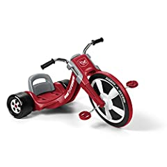 """Take a ride on the deluxe big Flyers;, the performance trike. This award-winning trike is designed to be your child's favorite new ride! The deluxe big Flyers; is a chopper-style tricycle with sleek racing design. It features a large 16"""" fron..."""