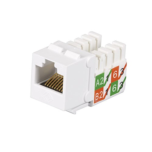 Black Box FMT639-R3-25PAK GIGATRUE2 CAT6 JACKS, UNIVERSAL WIRING, COMPONENT LEVEL, 25 PACK, WHITE by Black Box