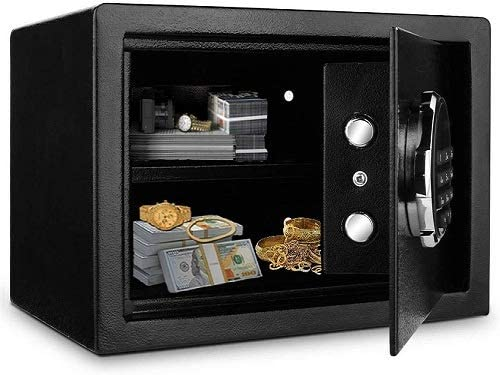 Safe Box, WESOKY Digital Security Safe Box 0.57 Cubic Key Electronic Code, Cabinet Safes Lock for Home Hotel Office Cash Jewelry Storage