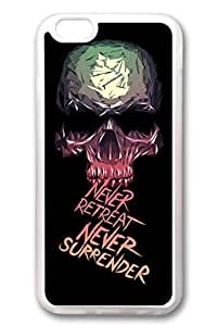 iPhone 6 Cases, Personalized Protective Soft Rubber TPU Clear Case Cover for New iPhone 6 4.7 inch Skull Never