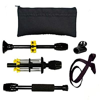 "36"" Venom Blowguns Stow-away™ Collapsing Black .40c Blowgun with Darts Made in USA from Venom Blowguns"