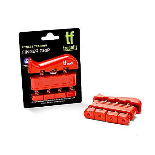TraceFit Finger Strengthener Hand Finger Grip - exerciser for prohands tactical, guitar and climbing exercises, be a gripmaster with this grip strength trainer