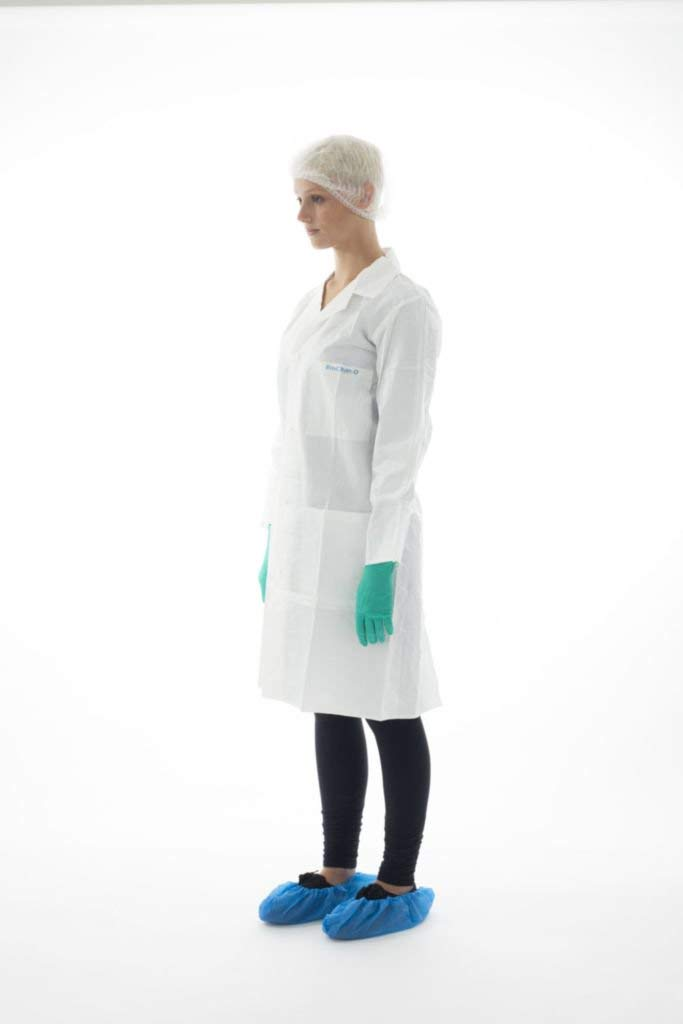Ansell BDLC-XXL BioClean Lab Coat with Collar and 3 Pockets, Anti-Static, Non-Sterile, XXL (Pack of 30)