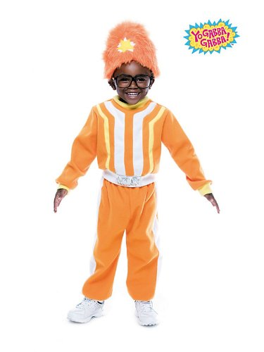 Paper Magic Group PM6839004-T34T Toddler Deluxe Yo Gabba Gabba DJ Lance Rock Costume Size Toddler3-4 -