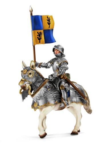 - Schleich Lion Coat of Arms Standard bearer on Horse