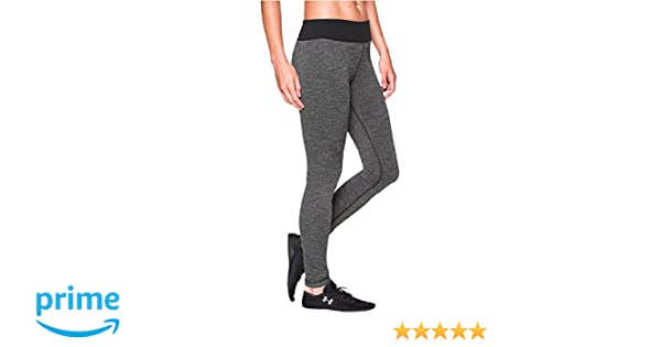 50e9e068aecd78 Amazon.com: Under Armour Women's UA Studio Tweed Leggings Black/Metallic  Pewter XS (US 0-2) X 29: Clothing